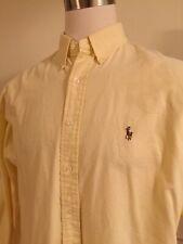 Polo Ralph Lauren 17 34/35 Button Front Light Yellow Yarmouth Men's L/S Shirt