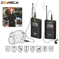 Professional 48CH Wireless UHF Lavalier Microphone For Smartphone iPhone Camera