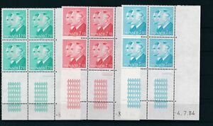[G27788] Monaco 1984 Good set in blocks of 4 stamps very fine MNH