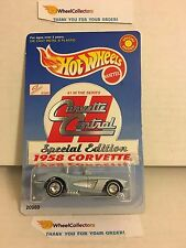 1958 Corvette * Corvette Central * w/ Real Riders * Hot Wheels * N102