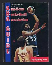 1972-73 OFFICIAL ABA AMERICAN BASKETBALL ASSOCIATION SPORTING NEWS GUIDE