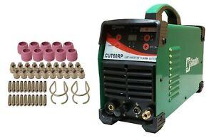 """Plasma Cutter 52 Cons Pilot Arc Digital 60 Amp 110V/220V 4/5"""" Cut Simadre 60RP"""