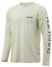 Huk Men's Bass Pursuit Fog Green Xx-Large Long Sleeve Shirt