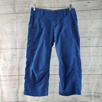 Kuhl Womens Capri Pants Sz 4 Blue Embroidered