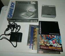 Nintendo Game Boy Advance SP Platinum Silver Handheld System COMPLETE