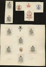 ROYALTY...COATS of ARMS + PARLIAMENT...14 ITEMS...SEALS etc
