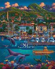 DOWDLE FOLK ART COLLECTORS JIGSAW PUZZLE MAUI 500 PCS HAWAII
