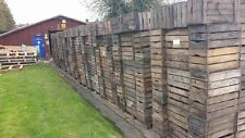 """GRADED SECOND - VINTAGE """"PRE WAR"""" FRENCH WOODEN FARM APPLE CRATE BUSHELL BOX /"""