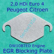 EGR Valve Blanking Plate Peugeot Citroen 2.0 HDi 307 407 607 807 308 C4 C5 C6 C8