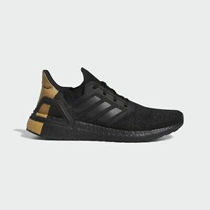 {FY2901} Men's Adidas UltraBoost 20 'Black Gold Metallic' *NEW*