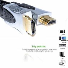 PURE HQ OFC HDMI Cable Lead Gold Plated METAL ENDS 1080p 2m HDMI Male 4K V1.4