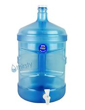 BPA Free 5 Gallon Water Bottle Faucet Reusable Jug Plastic Container Canteen New