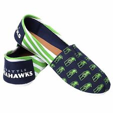 Seattle Seahawks Women's Canvas Stripe Shoes L