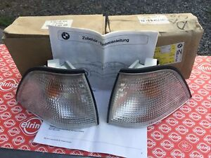 BMW E36 3 Series 1993-1999 Euro Clear Front Corner Lamps Coupe Or Convertible