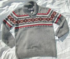 Boys sweater Top size 11, 12 med Large gray red blue Osh Kosh NEW