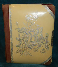 LOVELY OLD ANTIQUE/VINTAGE CREAM COLORED CELLULOID PHOTO ALBUM!!