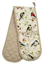 Pájaro Ramas De Lunares 100% sarga de algodón guante doble horno 17cm x 90cm