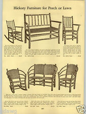 1934 PAPER AD Old Hickory Porch Lawn Furniture Rocker Chair Settee Set Woven