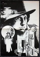 DOCTOR WHO POSTER . TOM BAKER & TARDIS ILLUSTRATION BY PAUL SIMMONS . 7C