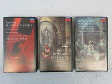 Lot of 3 LONDON OPERA VIDEOS VHS Monteverdi, Mozart & Bartok