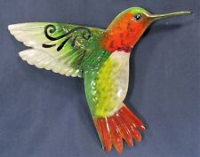 Hummingbird Painted  Metal Wall Plaque In/Outside Home Decor (B)