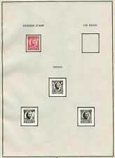 #690E GEN. PULASKI 2¢ 1931 (3) DIFF B.E.P PHOTO ESSAYS W/ FINISHED STAMP WLM3453