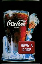 Blechschild Coca Cola Have a Coke Glas Eiswürfel nostalgisches Schild retro