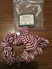 Longaberger Red Ticking Sweetheart Large Garter Made in Usa New In Bag