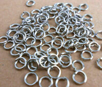 3MM-9MM DIY Making Jewelry Findings Stainless Steel Opening Jump Rings 500PCS