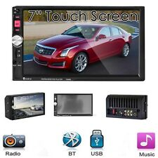 7'' Car MP5 Player Radio Stereo Head Unit Bluetooth Touch Screen AUX/FM/MP3/USB