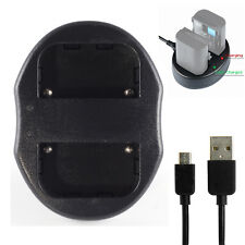 USB Dual 2 Battery Charger For Sony NP F930 F950 FM90 FM50 FM70 QM50 QM70