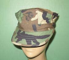 US Military Issue Marine Corps USMC 8 Point Woodland Utility Cover Hat Cap Sz M