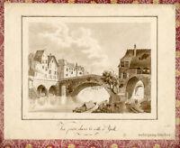 Ansicht der Stadt York, Aquarellierte Bleistiftzeichnung um 1800