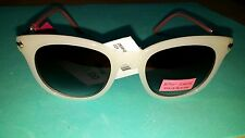 NWT Betsey Johnson Women's Sunglasses - white with pink sides - 100% UV