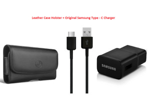 2 in 1 Accessory Kit, Holster + OEM Adaptive Fast Wall Charger for Type C Phones