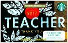 STARBUCKS COFFEE USA 2017 NEW YORK APPLE ' TEACHER ' US COLLECTIBLE GIFT CARD For Sale