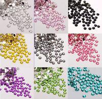 2000pcs sparkling Resin Rhinestone Flatback Crystal 3/4/5mm 14 Facets Gems beads