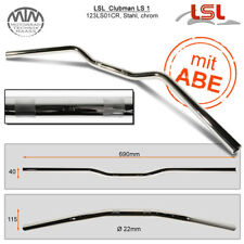 Lsl Clubman Guidon Acier Chrome 22,2mm