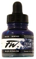 DALER ROWNEY FW LIQUID ACRYLIC INK 1 OZ Bottle Choose Color