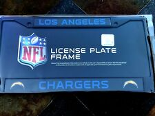 1 Los Angeles Chargers Black Automobile License Plate Frame w Nice 2D Graphics