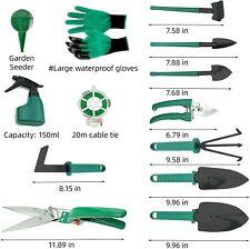 DM Gardening Tool Set, 35PCS Heavy Duty Aluminum Garden Tools Set for Women