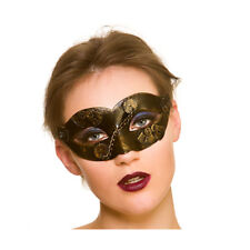 Steampunk Eyemask Ladies Gold Fancy Dress Masked Ball Eye Mask