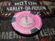 Harley Neon Pink & Black Poker Chip From New Bern Harley Davidson New Bern, NC