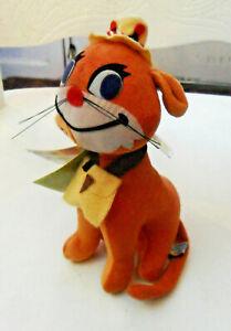 New W Tag Retired DREAM PET DAKIN Orange CAT Fish N' Chips #23 Stuffed Velveteen