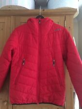BENCH Red Puffer Jacket with hood small chest 40""