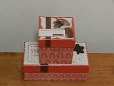 STONEWALL KITCHEN Empty Paper Gift Boxes Printed Chocolate Peppermint Bark Candy