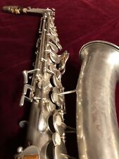 Saxophone Alto 1935 Buescher Aristocrat Silver Plated Looking Great !!!
