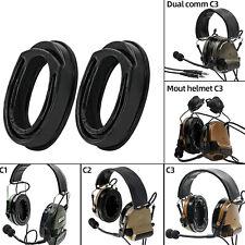 2pcs Noise Cancelling Silicone Earmuffs For Comtac I Ii Iii Tactical Headset