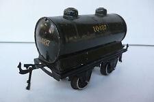 "TRAINS  BING  ""O""   WAGON CITERNE 10487  TÔLE   Lg 12cm   1931   BON ÉTAT"