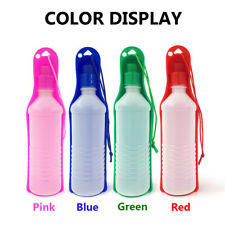 New listing Portable Pet Dog Travel Water Bottle Dispenser Compact Folding Tray Bowl